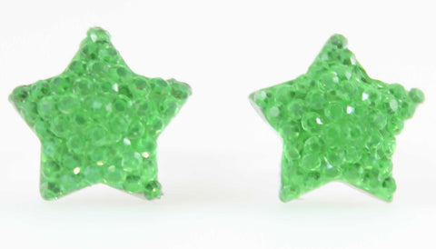Bubble Star Earrings (Studs) - green