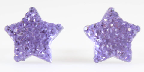Bubble Star Earrings (Studs) - lavender