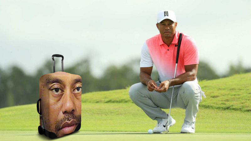 Tiger Woods on the green at the PGA Playoffs