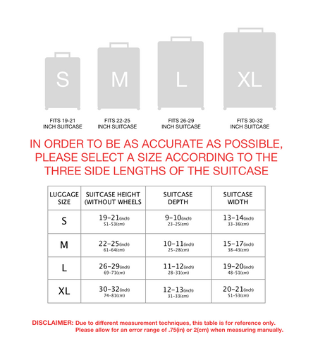 SuitFaces Sizing Chart