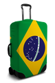 Brazil Flag - Luggage Cover/Suitcase Cover
