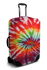 Red tie dye luggage