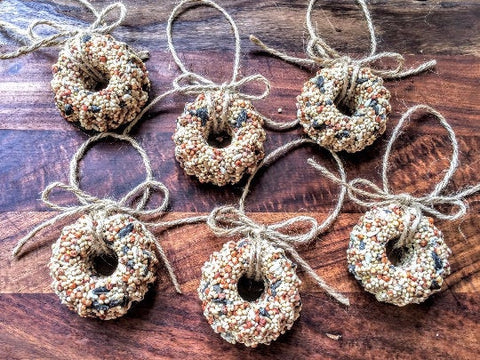 12 Birdseed Wreath Ornaments - Individually Packaged