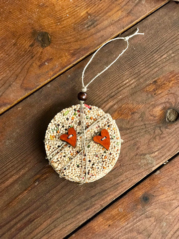 Valentines Day Birdseed Ornament Gift Box (B) | 1 Hanging Bird Feeder + Personalized Card