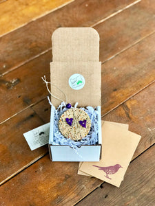 Birdseed Heart Ornament Gift Box (A) | 1 Hanging Bird Feeder + Personalized Card