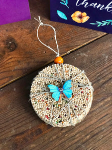 Thank You Birdseed Ornament Gift Box (F) | 1 Hanging Bird Feeder + Personalized Card