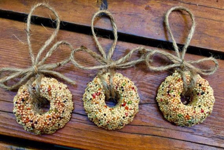 50 Birdseed Wreath Ornaments - Individually Packaged