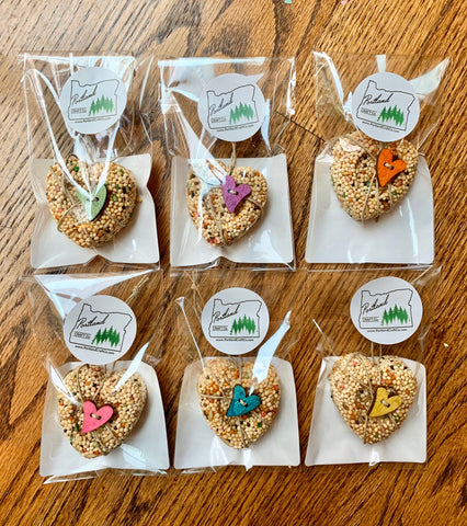 12 Heart Birdseed Ornament Bulk Box