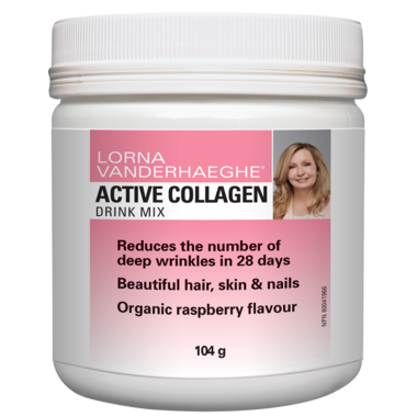 Lorna Vanderhaeghe, Active Collagen, Organic raspberry, 104g