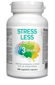 Assured Naturals, 3 Brains, Stress Less, 120 v cap
