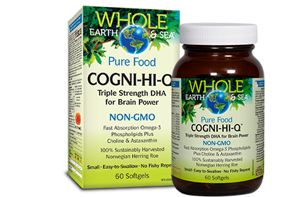 Whole Earth & Sea, Cogni-Hi-Q, 60 softgels
