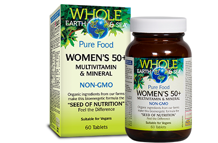 Whole Earth & Sea, Women's 50+ Multivitamin & Mineral, 60 tabs
