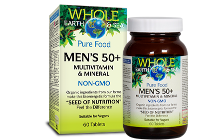 Whole Earth & Sea, Mens 50+ Multivitamin & Mineral, 60 tabs
