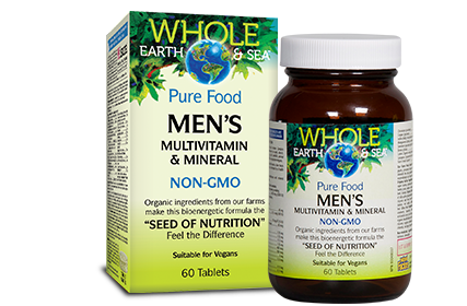 Whole Earth & Sea, Men's Multivitamin & Mineral, 60 tabs
