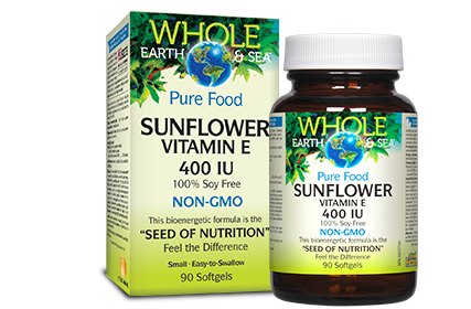 Whole Earth & Sea, Sunflower Vitamin E, 90 softgels