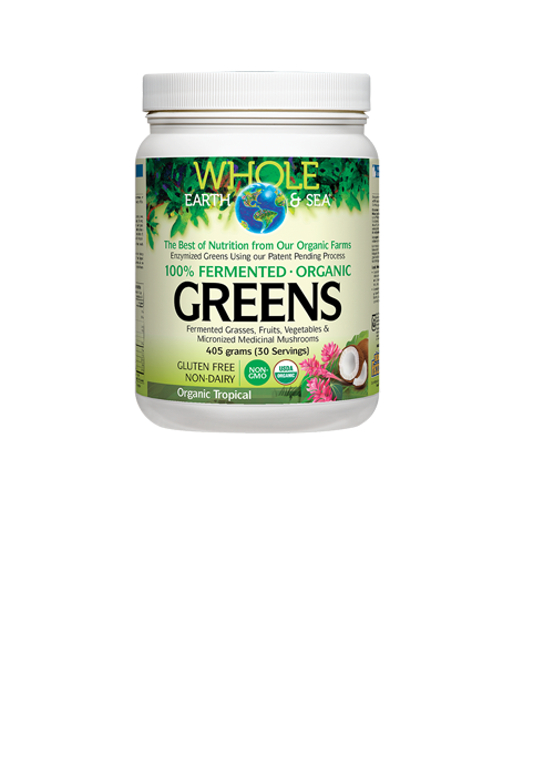 Whole Earth & sea, Fermented Organic Greens, Organic Tropical, 405 grams