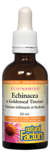 Natural Factors, Echinamide, Echinacea & Goldenseal Tincture, 50 ml