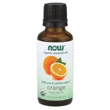 NOW Essential Oils Organic Orange Oil, 30mL
