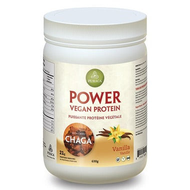 Purica, Vegan Protein Powder with Chaga, Vanilla, 630g