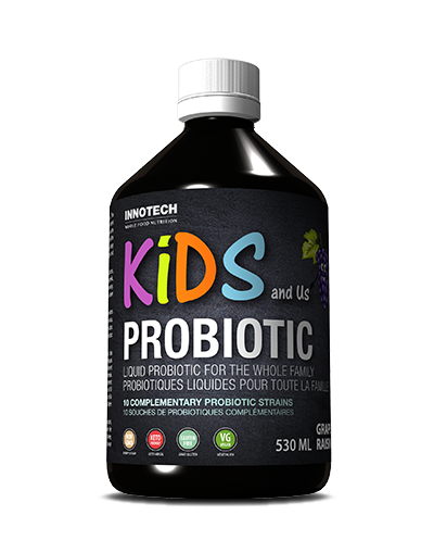 Innotech Kids & Us Family Probiotic Drink ( Wholy Biosa ), Grape, 500ml