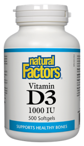 Natural Factors, Vitamin D, 1000 IU, 500 Soft Gels