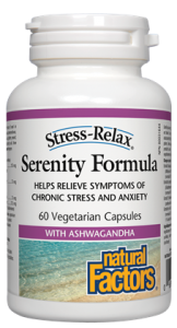 Natural Factors, Stress-Relax, Serenity Formula, 120 V cap