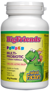 Natural Factors, Big friends, Multiprobiotic powder, 60g powder