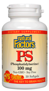 Natural Factors, PS Phosphatidylserine, 100mg. 60sg