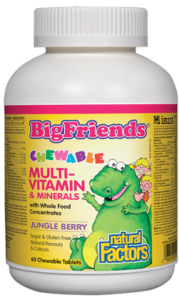 Natural Factors, Big Friends, Chewable Multivitamin & Mineral, 60 chewable tablets