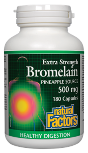 Natural Factors, Bromelain, 500mg, 180 cap