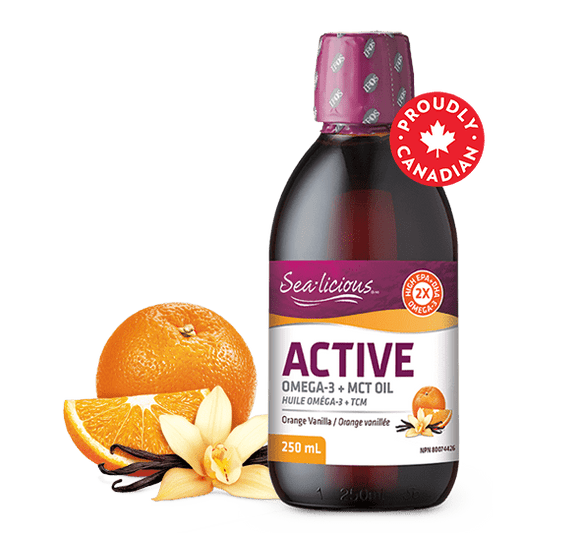 Sea-Licious, Active Omega 3 + MCT oil, Orange Vanilla, 250 ml