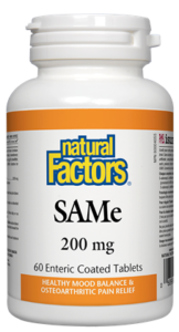 Natural Factors, SAMe 200mg, 60 tabs