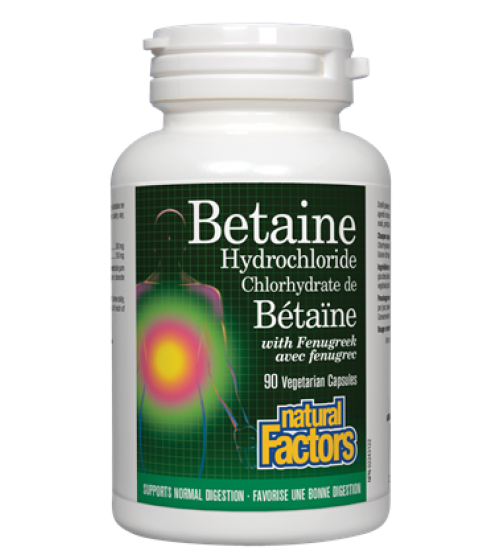 Natural Factors, Betaine Hydrochloride with Fenugreek, 90 Vcap