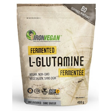Iron Vegan, Fermented L-Glutamine, Unflavored, 400g