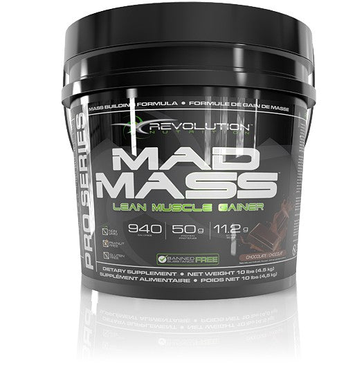 Revolution Nutrition, Mad Mass Lean Muscle Gainer, 10lb