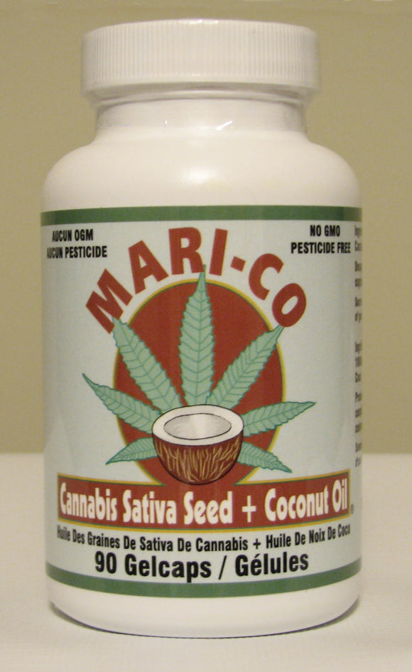 Stephen Health, Mari-Co Cannabis Sativa Seed Oil with Coconut Oil, 90 softgels