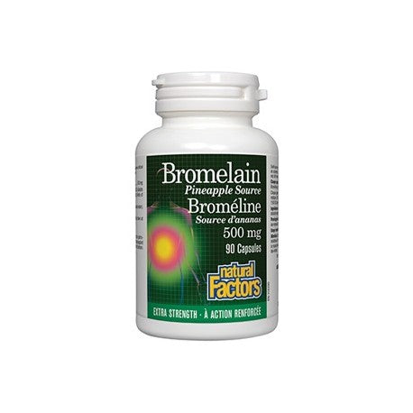 Natural Factors, Bromelaine, 500mg, 90 cap