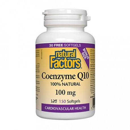 Natural Factors, Coenzyme Q10, 100mg, 150 sg