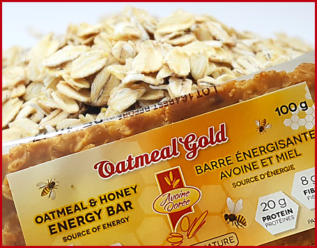 Avoine Doree, Oatmeal Honey Energy Bar, 100 grams