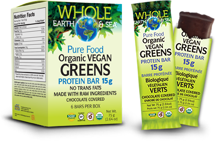 Whole Earth & Sea, Organic Vegan Green Protein Bar, 75 grams