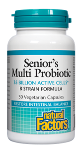 Natural Factors, Senior's Multi Probiotic, 35 Billion Active Cells, 30 V cap