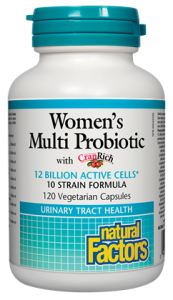 Natural Factors, Women's Multi Probiotic with CranRich, 12 Billion Active Cells, 60 V cap