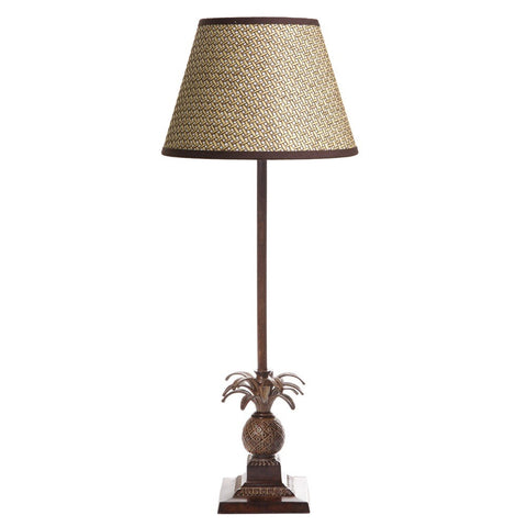 Caribbean Pineapple Lamp Base - Brown / Timber