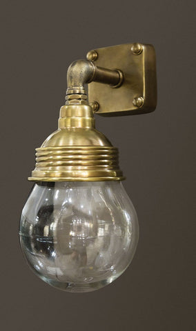 Dover Outdoor Wall Lamp - Antique Brass