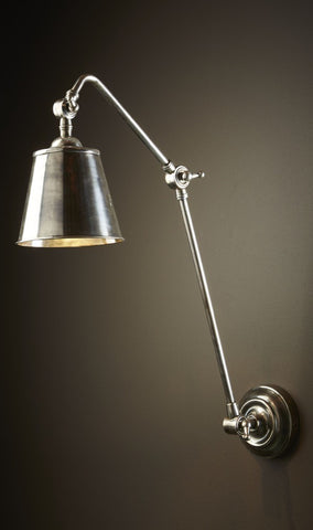 Cromwell Wall Lamp - Antique Silver
