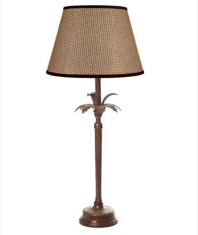 Casablanca Palm Tree Table Lamp Base - Brown