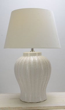 Drawbridge Table Lamp Base - Cream