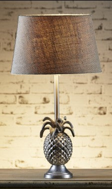 St Martin Pineapple Table Lamp Base - Silver