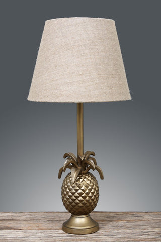 St Martin Pineapple Table Lamp Base - Antique Brass