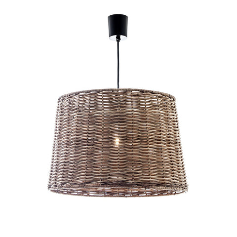 Wicker Round Hanging Lamp - Small or Large